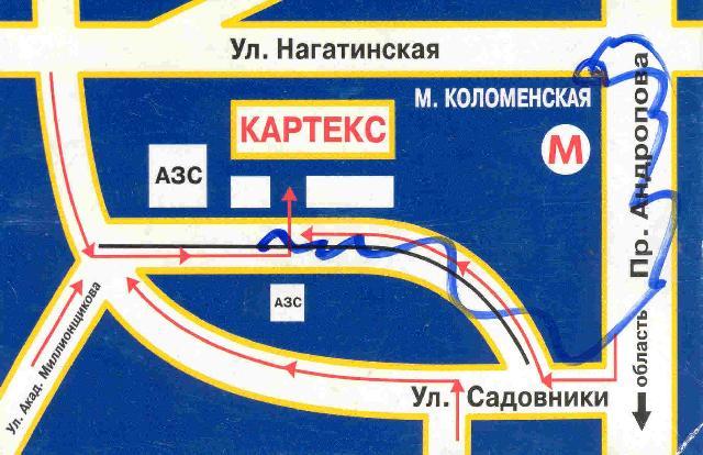 Коломенская схема проезда